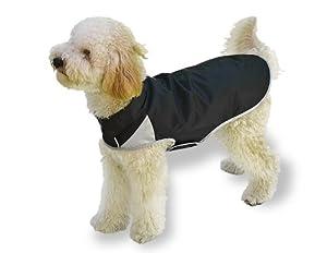 Scooter's Friends Rain Slicker Dog Coat, Size 8, Black