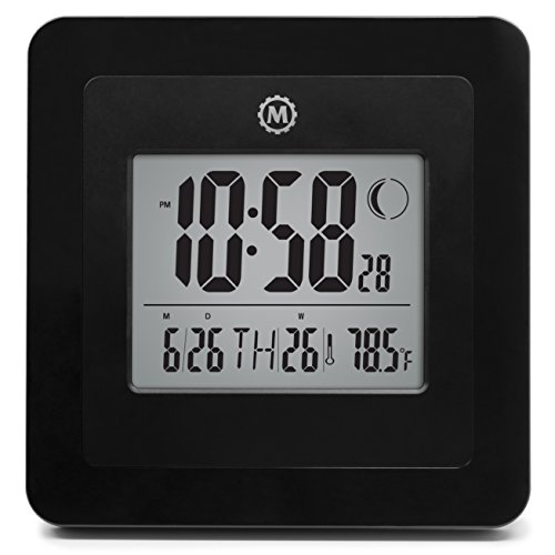 marathon-cl030049bk-digital-wall-clock-with-day-date-week-number-temperature-alarm-moon-phase-black-