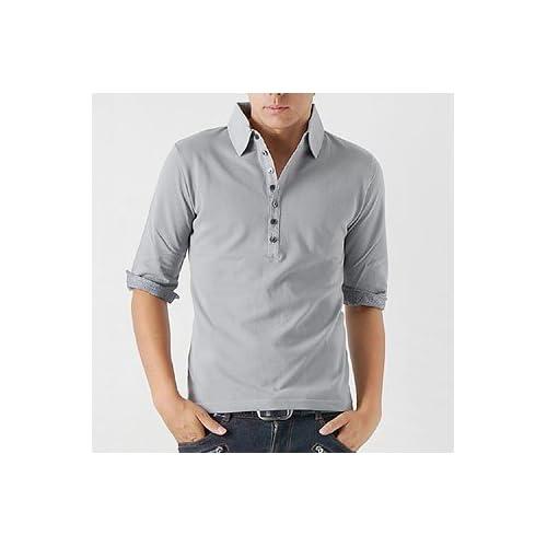 【ENCOREHOUR】千鳥切替ストレッチ鹿の子五分袖ポロシャツ(メンズ・5分袖)(449)