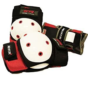 """X-FITTER Protective pads 3 Pieces Set """"ADULTS"""" ELBOW/KNEE/WRIST, Large [Misc.]"""