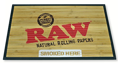 RAW Natural Rolling Papers - Bamboo Door Mat 30