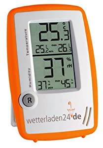 Thermometer-Hygrometer Instrument Room Control Orange-White