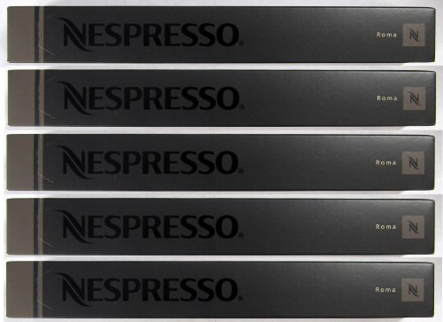 50 Nespresso Capsules Roma Coffee New