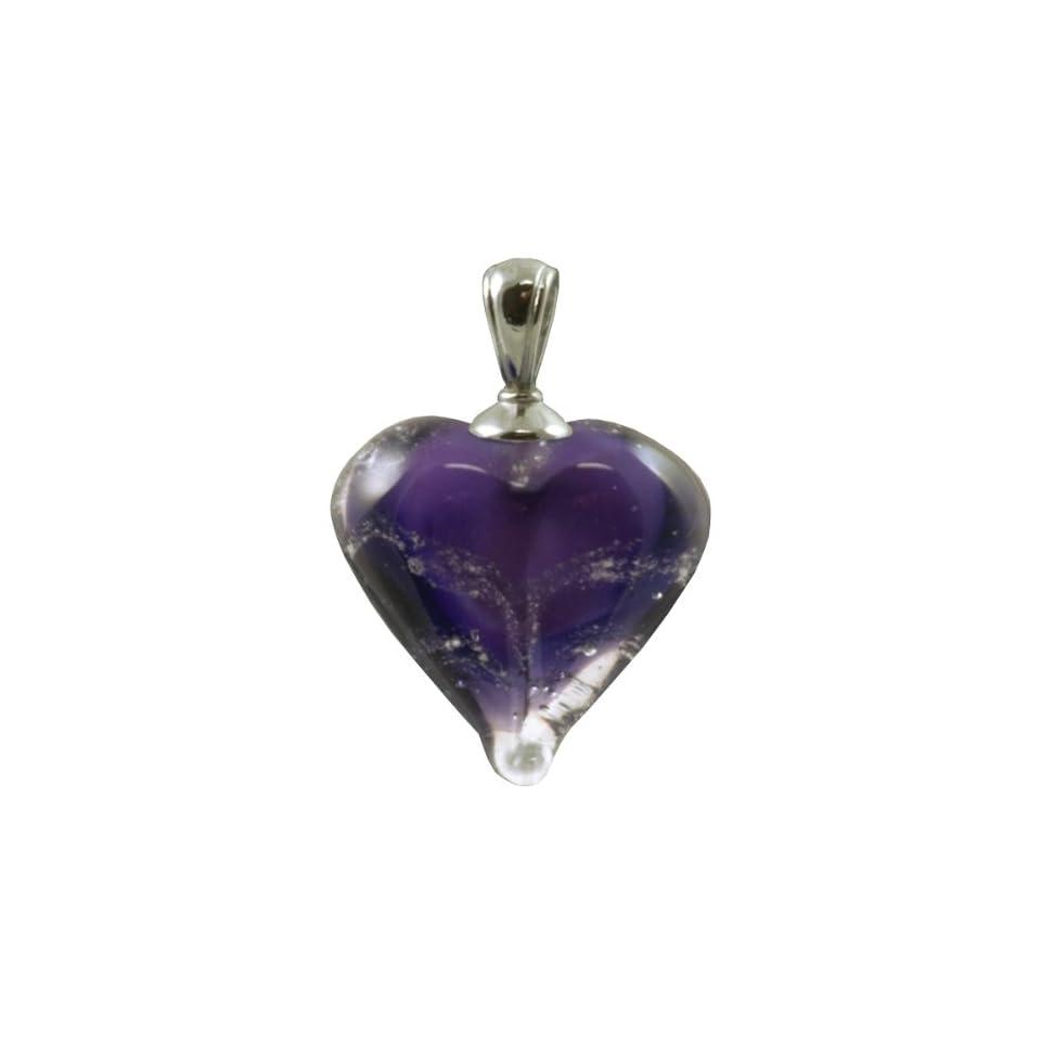 Pet Memorial Purple Loving Memory Heart Pendant