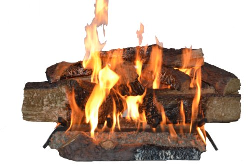Country Split Oak Vented Dual Burner Log Set for Natural Gas Fireplace, 24-Inch (Vented Propane Fire Place compare prices)