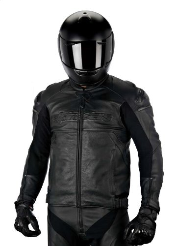 Alpinestars Black Shadow Hades Leather Jacket , Gender: Mens/Unisex, Primary Color: Black, Size: 52, Apparel Material: Leather, Distinct Name: Black Shadow 3108214-10-52