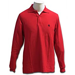 Prancing Horse long sleeve polo - Red (Medium)