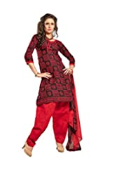 Sky Fashions Women's Multi Cotton Top Un-stiched Salwar Suit (SYFW0019)