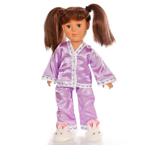 """18 Inch Doll Lavender Pajama Set 