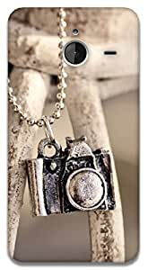 The Racoon Grip locket camera hard plastic printed back case / cover for Microsoft Lumia 640 XL