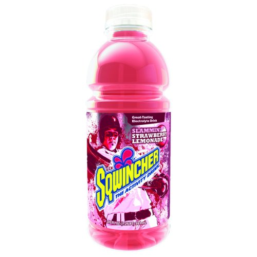 Sqwincher 030536-Sl Electrolyte Replacement Beverage, Strawberry Lemonade Flavor, 20 Oz. Wide-Mouth Bottle (Case Of 24)