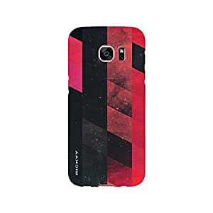 RICKYY _s7edge_1286 Printed Matte designer Red and Black Pattern case for Samsung S7 edge