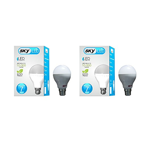 Skyled 7W LED Bulb (White, Pack Of 2)
