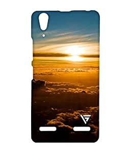 Vogueshell Sunset Printed Symmetry PRO Series Hard Back Case for Lenovo A6000