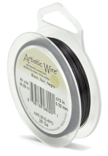 Artistic Wire 28-Gauge Black Wire, 40-Yards