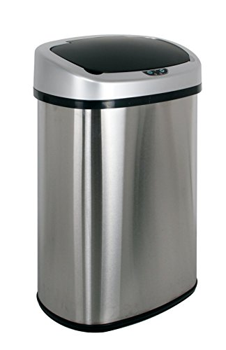 PayLessHere Touchless Automatic Infrared Sensor Trash Can 13.2 Gallon Stainless Steel (Automatic Open Trash Can compare prices)