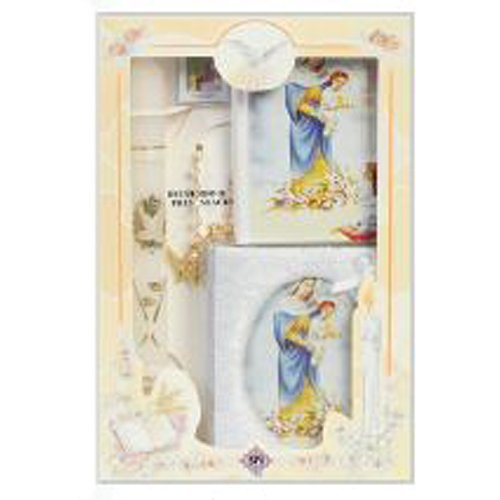 Girl's 3 Year Presentation Set in English with Candle, Rosary, Remembrance, Photo Album, and Missal