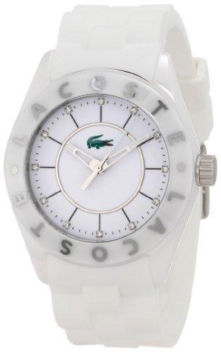 Lacoste Biarritz White Dial White Ceramic Ladies Watch 2000672