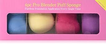 Bundle Monster 4pc Pro Beauty Flawless Makeup Blender Foundation Puff Multi Shape Sponges