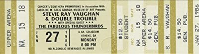 Stevie Ray Vaughan W/ Jimmie & Fabulous Thunderbirds 1986 Unused Concert Ticket