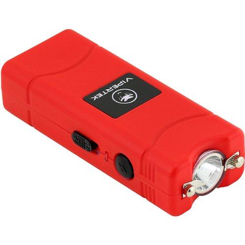 Vipertek Vts-881 - 17,000,000 V Micro Stun Gun - Rechargeable With Led Flashlight (Red)