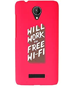 KolorEdge Back Cover For Micromax Canvas Spark Q380 - Pink (1891-Ke15148MmxQ380Pink3D)