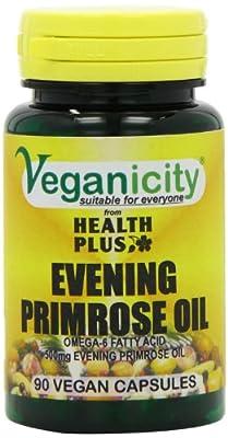 Veganicity 500mg Vegan Evening Primrose Oil Women's Health Supplement - Pack of 90 Capsules