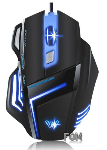 FOM AULA GHOST SHARK 400-2000 DPI Wired USB Expert Gaming Mouse – Black