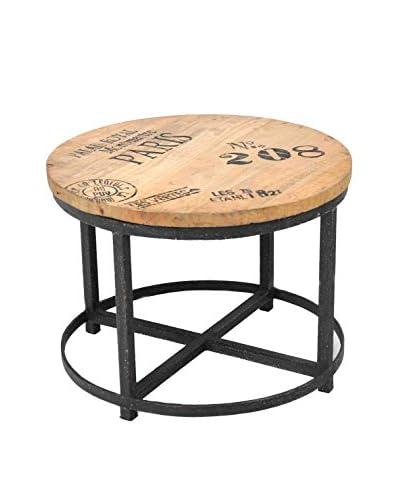 Montmartre Side Table, Tan/Black