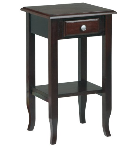 Office Star Merlot Small End Table with Drawer  new best seller coffe ...