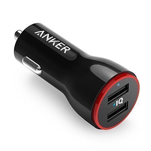 Anker 24W Dual USB Car Charger, PowerDrive 2 for iPhone 7 /...