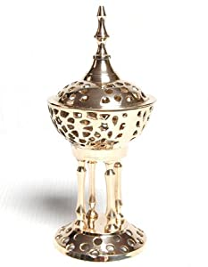 "Byzantine (Greek Orthodox) Pedestal Incense Burner - 8"" Tall"