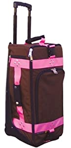 CG CARRY ON BAG MOCHA W  PINK WEBBING by Club Glove