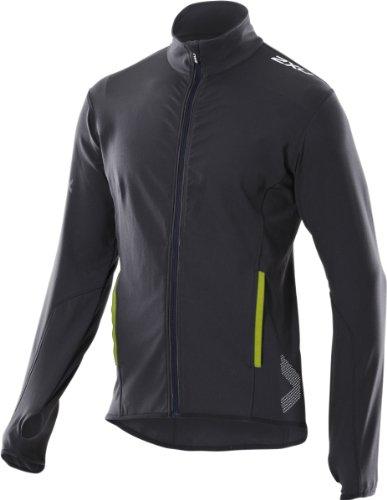 2XU 2XU Men's Cruize Jacket, Black/Lime Green, Small