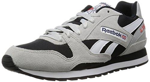 Reebok GL 3000, Scarpe Sportive Indoor Unisex - Adulto, Grigio (Skull Grey/Black/Blue Ink/Riot Red/White), 36.5 EU