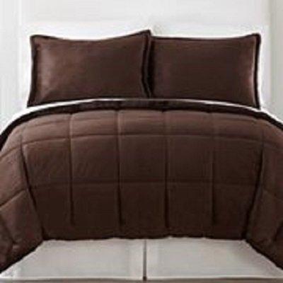 Mink Solid Comforter Set / King/Dark Java front-710236