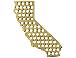 California State Beer Cap Map, Beer Bottle Cap Collector Wall Art