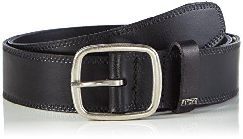 Vans - Federal Leather Belt, Cintura Uomo, Nero (Black), Medium (Taglia Produttore: Medium)