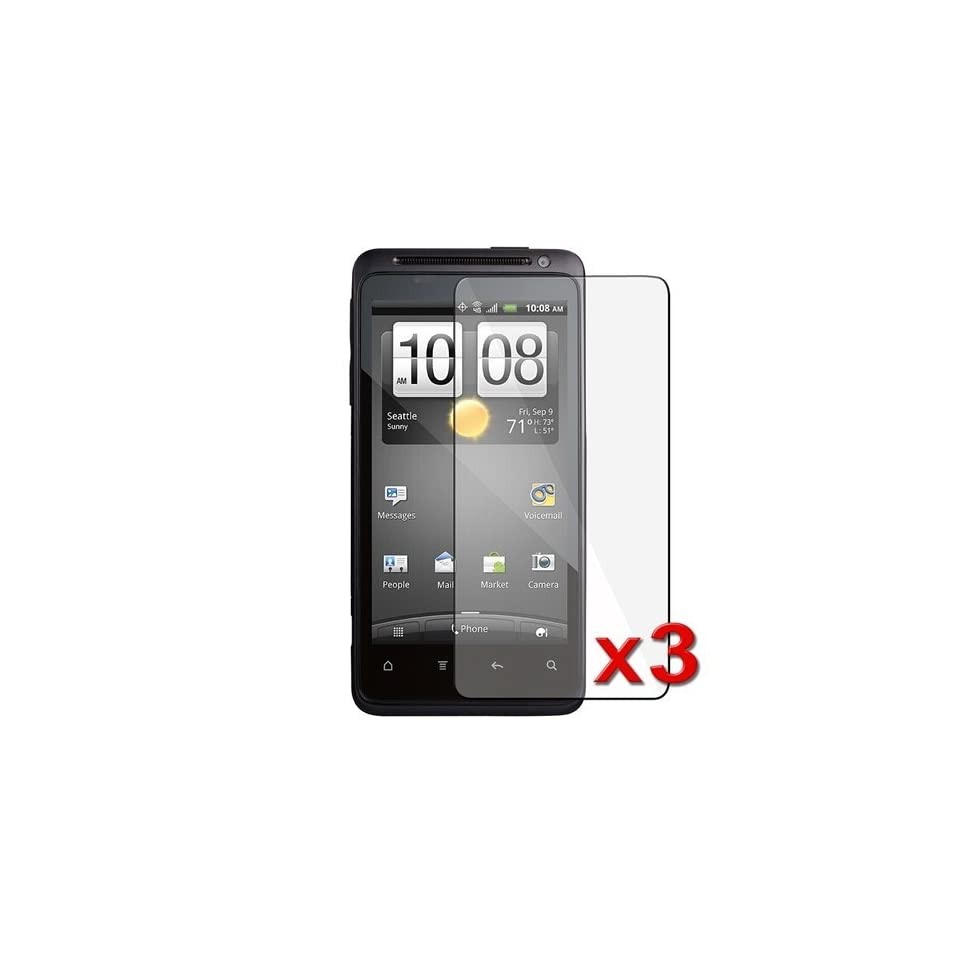 Importer520 Set of 3 Clear LCD Screen Protectors for HTC EVO Design 4G Prepaid Android Phone (Boost Mobile)