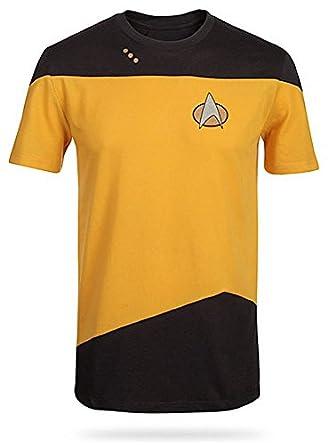 Star Trek The Next Generation Herren Gelb Kostüm T-Shirt | S