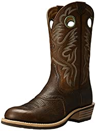 Ariat Men\'s Heritage Roughstock Western Cowboy Boot, Brown Oiled Rowdy, 9 D US