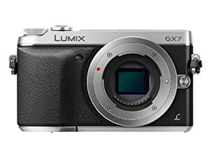 Panasonic LUMIX GX7 16.0 MP DSLM Camera with Tilt-Live Viewfinder - Body Only (Silver)