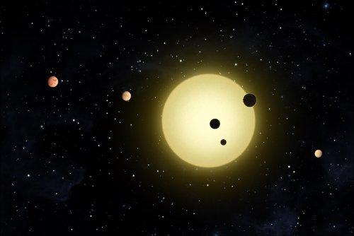 """Kepler-11 Planetary System - 24""""X36"""" Poster"""