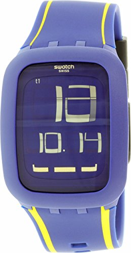 Swatch Men's Digital SURN106 Blue Silicone Quartz Watch (Swatch Watch Digital compare prices)