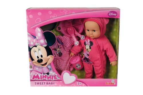 Simba Simba Minnie Mouse Bald Baby With Outfit (30 Centimeter)