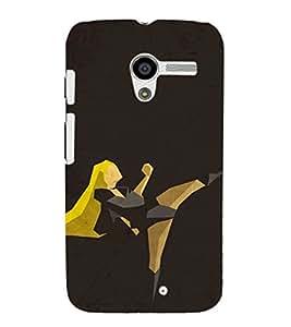 EPICCASE Girl in Action Mobile Back Case Cover For Moto X (Designer Case)