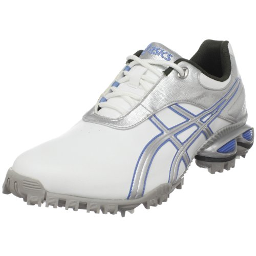 ASICS Women's GEL-Linksmaster Golf Shoe,White/Silver/Carolina Blue,6.5 M