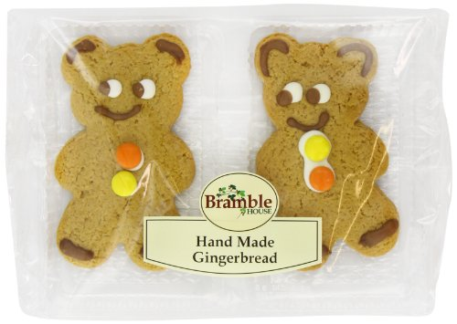 Bramble Bakery Hand Made Gingerbread Bear Twins (Pack of 15)