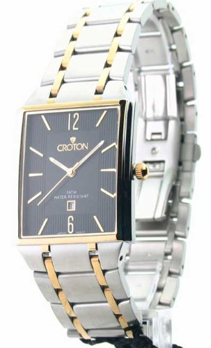 Ultra Thin Band Watch. Womens Croton Steel Ultra Thin