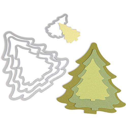 Fustella Decorativa Albero di Natale Big Shot Sizzix carta cartoncino Ellison